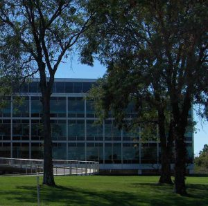 The Cigna campus, formerly Connecticut General, is famous for its modern design. This architectural landmark is near Heirloom Flats, apartments in Bloomfield, Connecticut.