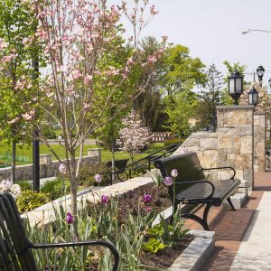 Filley Park in Bloomfield—one of our picks for places to go this spring in and around Bloomfield, Hartford, and West Hartford—all near our apartments.